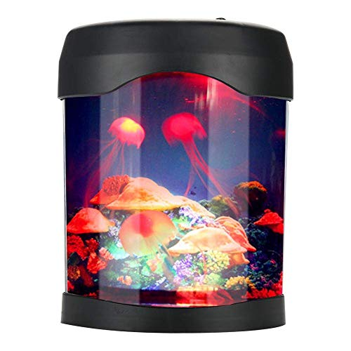 Tnfeeon LED Medusa Artificial Acuario Luz USB Pecera