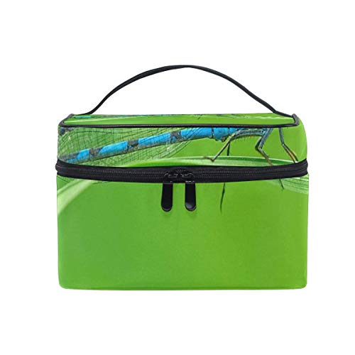 Trousse de maquillage Blue Dragonfly Cosmetic Bag Portable Large Toiletry Bag for Women/Girls Travel