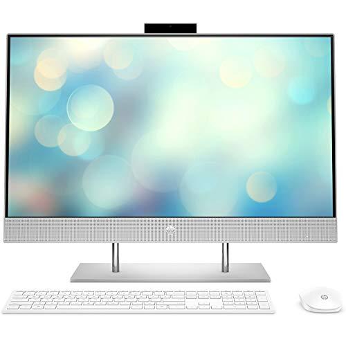 HP Computers All-in-One 27-dp1002ns - Computer da tavolo 27' Full HD, AMD Ryzen 7 4700U, 16 GB RAM, 1 TB SSD, grafica AMD Radeon, FreeDOS, colore: argento