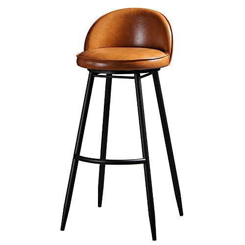 WZYX Taburetes De Bar Giratorio En 360° Sillas De Cocina con Respaldo Taburete Alto De Bar Patas De Metal, Silla Altura 65cm, 75cm