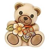 THUN, Teddy con Mazzo di Fiori e Farfalla, Animali Soprammobili da Collezione, Ceramica, Formato Piccolo, I Classici