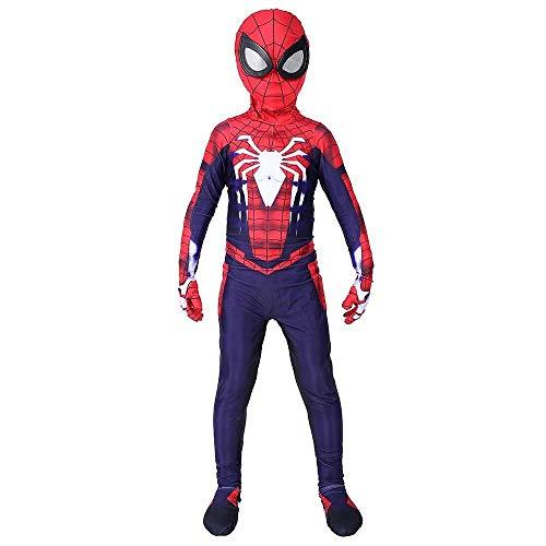 Hcxbb-b Kinder Spider-Man Fantasie, Maskerade Halloween Siamese Tights Avengers Abendkleid-Partei-Party Filmrequisiten (Farbe : Child, Size : X-Large)