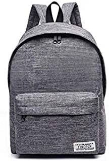 Solid Color Oxford Cloth Backpack Female Middle School Schoolbag College Wind Backpack Men's Fashion Travel Bag