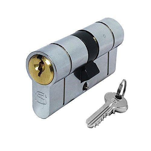 Schlosser Technik Ultimate²- Serratura per porta con cilindro europeo, anti effrazione, in UPVC, doppia finitura