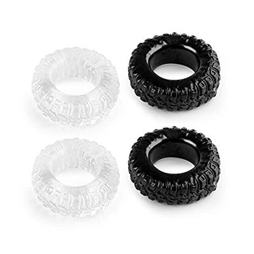 Quicke 4PCS Superior TPE Ṗéṅṡ-Ring Exercise Bands COC Ring for Men Ś-ëx