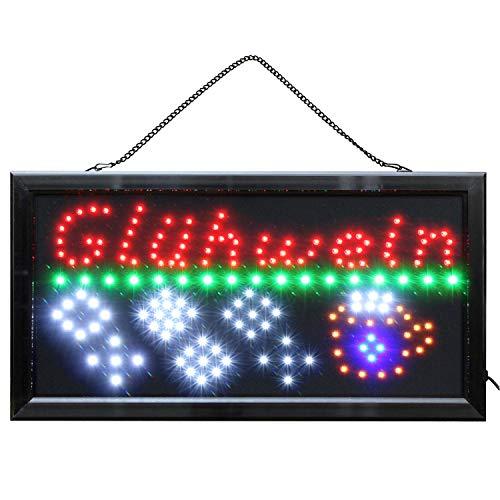 LED Schild Glühwein sehr hell beleuchtet Weihnachtsmark Imbiss Kiosk Reklame Leuchtschilder Winterzeit