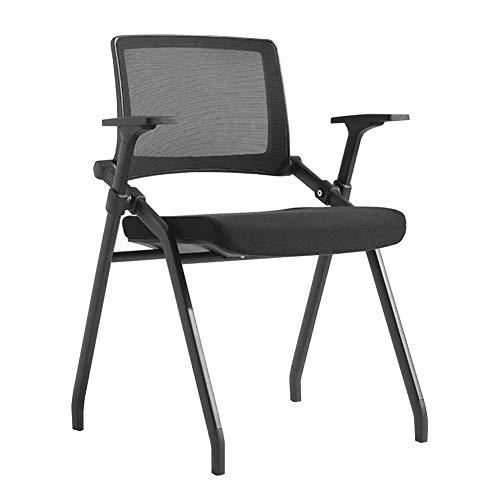 Dall Chaises Pliantes Châssis en Acier Chaise De Bureau D'ordinateur Chaise De Repos Arrière Domicile Jardin Bureau (Couleur : Noir)