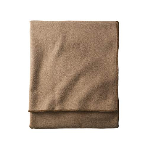 Pendleton, Eco-Wise Washable Wool Blanket, Camel Heather, Queen