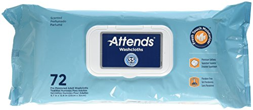 Attends Adult Wet Washcloths Convenience Pack with Aloe - 72 wipes by...