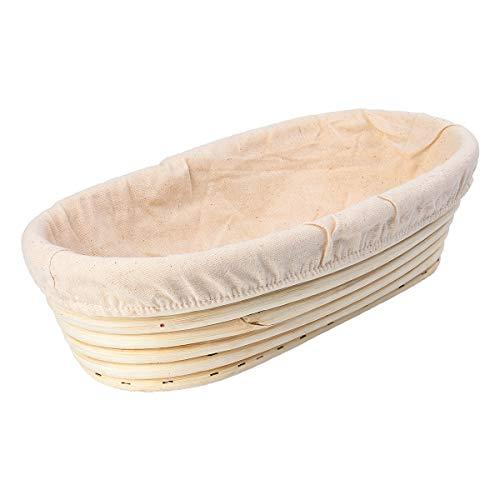 bestomz cesta lievitazione Pan Cesta para el pan (ratta con revestimiento de tela 30.5cm rectangular