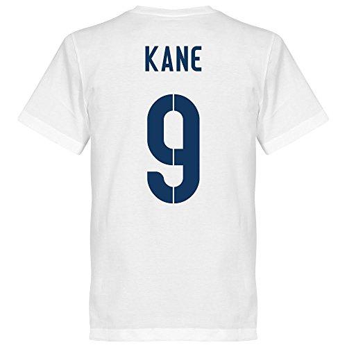 Retake England Kane 9 Team - Maglietta da uomo, taglia XXL, colore: Bianco