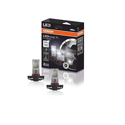 OSRAM 2604CW LEDriving FL, codice Corrispondente ECE PSX24W, fendinebbia, 9745CW, 12V, Astuccio (2 lampade), Set di 2