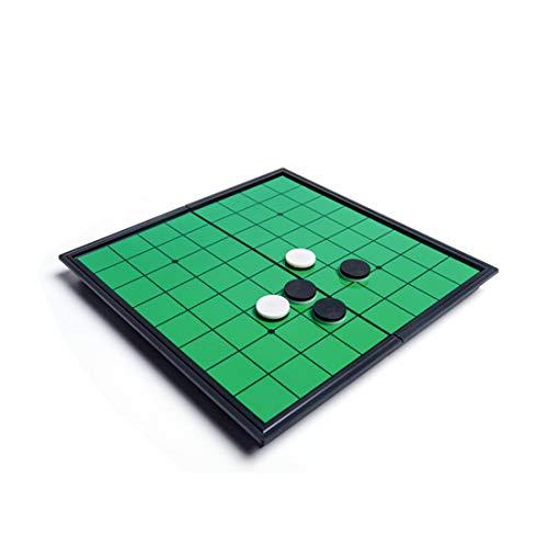 HLONGG Magnetische Brettspiel, Reversi Othello Klassische Strategie-Brettspiel Set 25cm-Board mit Folding Magnettafel und Stücke für zu Hause und unterwegs,9.8X9.8inch
