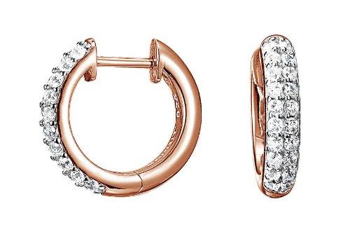Esprit Jewels Damen-Creolen 925 Sterling Silber Elegance rose ESCO90704G000