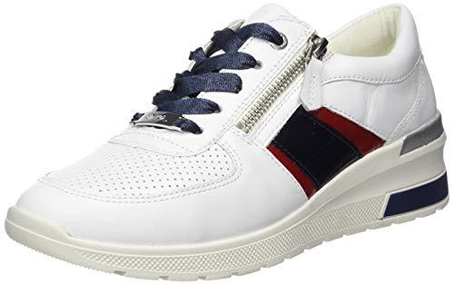 ARA NEAPLE, Zapatillas Mujer, Multicolor Blanco Rosso Navy 08, 38...