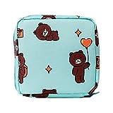La luz verde de la toalla sanitaria portátil Servilleta Tampon bolsa de viaje cosméticos monedero mujeres de las muchachas Higiene Femenina organizador pista bolsa