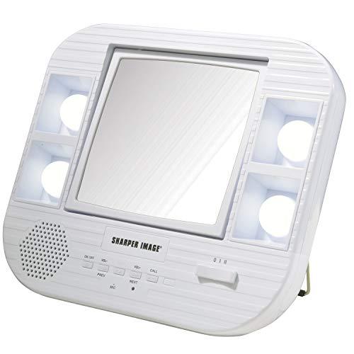 Jerdon Sharper Image J1025 Led Lighted Makeup Mirror With Bluetooth, 2.0 Lb