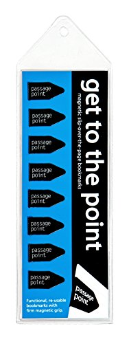 Get to the Point - Passage Point Magnetic Arrow bookmarks - BLACK-Set of 8 - Arrow Line Book Marker Pack is Ideal for Men, Women,Teens & Kids! Great for Bible Study, School & Work!