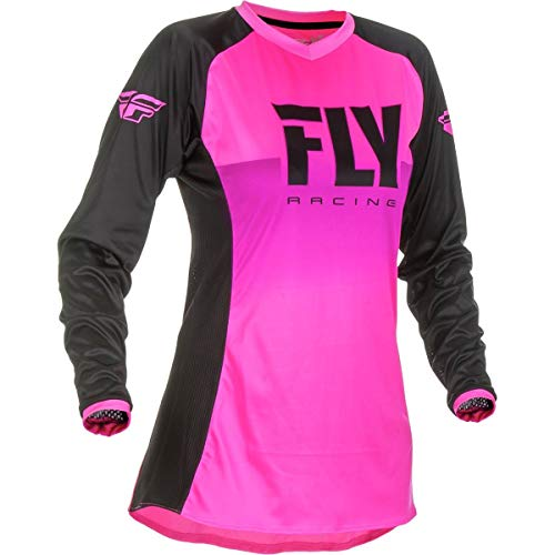 Fly Racing 2019 Girl's Lite Jersey (Large) (NEON Pink/Black)