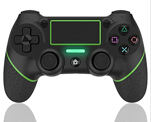 AQCTIM Mando para PS4 Mando Inalámbrico para PS4/Pro/Slim/Steam, Controlador Bluetooth, Gamepad Wireless Bluetooth Controlador Joystick con Vibración Doble