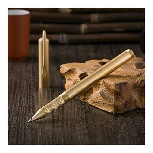 Messing balpen handgemaakte EDC Gel Pen Cap kan worden geschroefd op vat briefpapier kantoorschool benodigdheden Mat