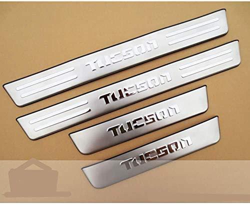 WJHNB Edelstahl-Türplatten tragen Schwellerschutz-Pedalaufkleber für Hyundai Tucson 2006-2013
