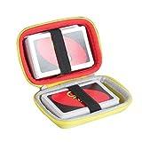Hermitshell - Funda rígida de Viaje para Juego de Cartas Mattel Games UNO, no Incluye Tarjetas, Amarillo, Rojo (Red+Yellow)