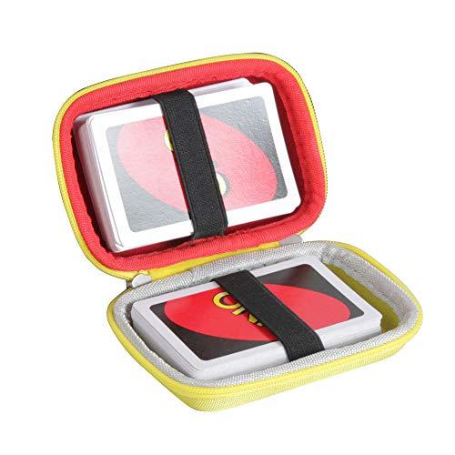Hermitshell Hartschalenhülle für Mattel UNO Classic Kartenspiel ohne Karten Rot+Gelb