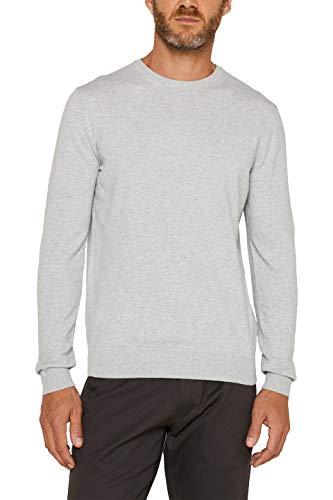 ESPRIT Herren 996EE2I900 Pullover, Light Grey (040), 01/19, XL