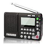 Retekess TR102 Radio Portable FM/AM/SW Récepteur Bande Mondiale Lecteur MP3 Enregistreur REC avec Minuterie de Sommeil (Noir)