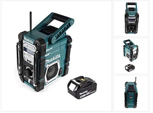 Makita DMR 112 T1 Akku Baustellen Radio 7,2-18V Bluetooth DAB+ + 1x 5,0Ah Akku - ohne Ladegerät