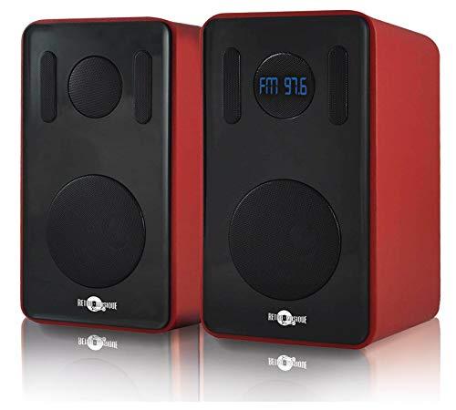 Retro Musique Bluetooth Bookshelf Speaker With FM
