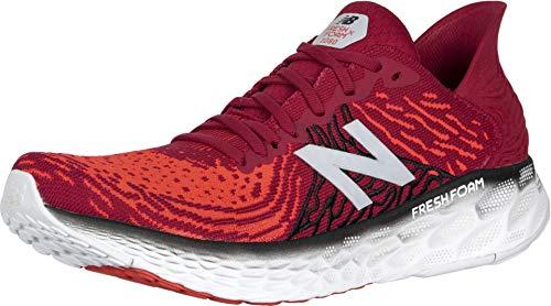 Zapatillas para correr de hombre de New Balance 1080 V10, de espuma, Rojo (Neo Carmesí/Neo Flame), 45 EU