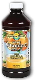 Dynamic Health Liquid Vitamin C 1000 mg | Vegetarian | With Rose Hips & Bioflavonoids | Antioxidant | 16 OZ, Btl-Plastic
