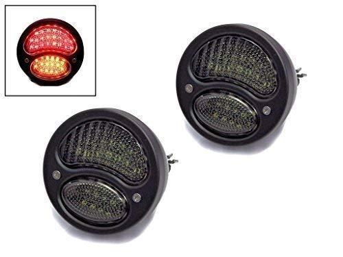 Noir Voiture 4WD Integré LED Feux Stop Lumières avec Clignotants Idéal pour Kit Voitures