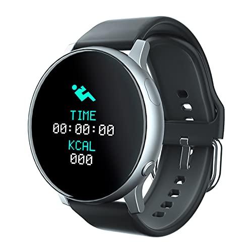 B Blesiya Reloj rastreador de Actividad, Contador de Pasos de Fitness Inteligente con Banda Impermeable, Contador de calorías, Reloj podómetro para Mujeres y - de Plata