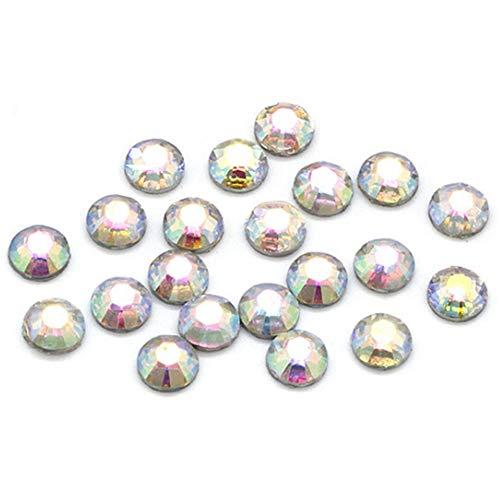 Everpertuk 2000pcs Rhinestones Crystal Strass Nail Art Cristaux de Verre 2mm, Faux Diamant Perles en Strass DIY pour Décoration des Ongles Téléphone Portable Multicolore