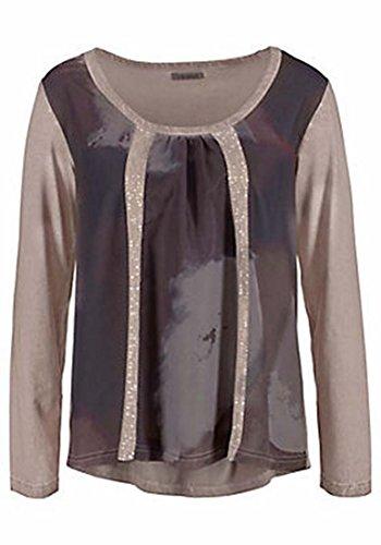 VIVANCE Collection Tunika Shirt Taupe Bedruckt