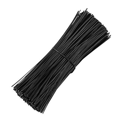 Ounona - Lot de 500 attaches torsadées en fil de fer revêtues de plastique de 15 cm - Attaches pour organiseur de câbles.