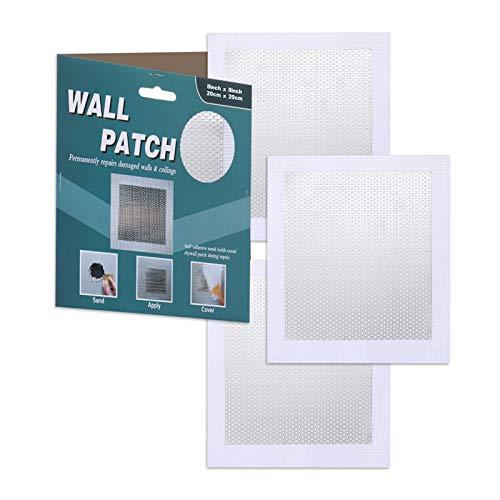 """Wall Patch Repair Kit, Drywall Repair Kit Patch, Self -Adhesive Wall Repair Patch, 3 Pack 8""""x8"""" Heavy Duty Dry Wall Hole Repair Patch Metal Patch with Extended Self-Adhesive Mesh"""