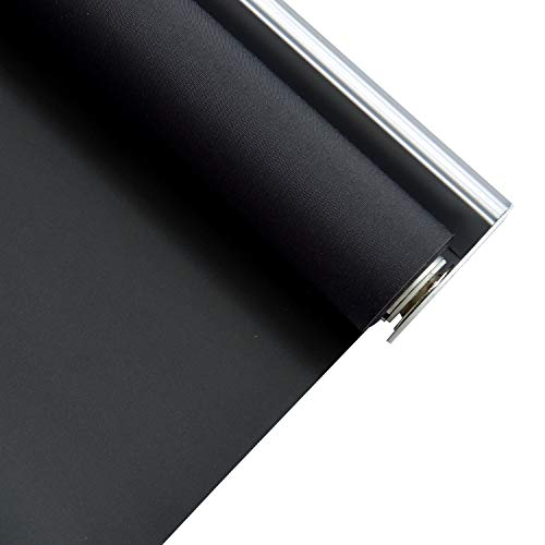 ALLBRIGHT Classic 100% Blackout Cordless Thermal Insulated Fabric Vinyl Roller Shades Blinds for Windows, Easy to Install
