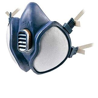 3M 4251 – Máscara sin mantenimiento con filtros FFA1P2R D (1 máscara/bolsa), 10 Unidades, Certificado de seguridad EN