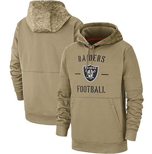 YCJL Herren Hoodie-Las Vegas Raiders Football Team Reißverschluss Cardigan Uniform Pullover, Langarm Sweatshirt Herbst Sweatshirt Jersey,L