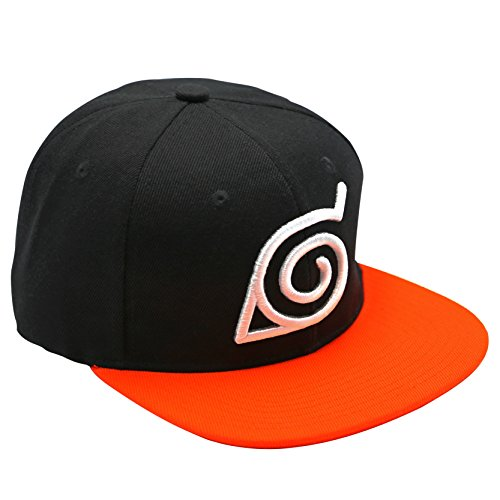 ABYstyle- Naruto Shippuden Cap Konoha, Schwarz/Orange, One Size, ABYCAP018