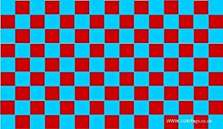 West Ham United Claret and Sky Blue Checkered 5'x3' Flag by 1000 Flags