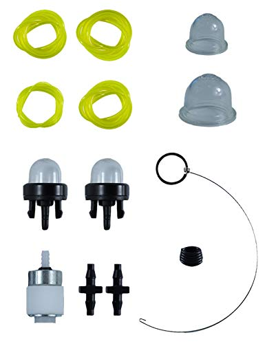 Fuel Line Repair Kit with 753-08319 Primer Bulb and 4 Fuel Lines for Troy-Bilt, Remington,MTD,Yard-Man,Yard Machines and Bolens 2-Cycle and 4-Cycle Trimmers and Blowers