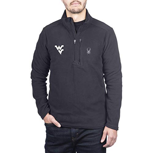 Spyder Herren Gameday Pullover Transport Quarter Zip Premium Fleece, Herren, Transport Quarter Zip Premium Fleece Gameday Pullover, West Virginia Mountaineers Schwarz, Medium