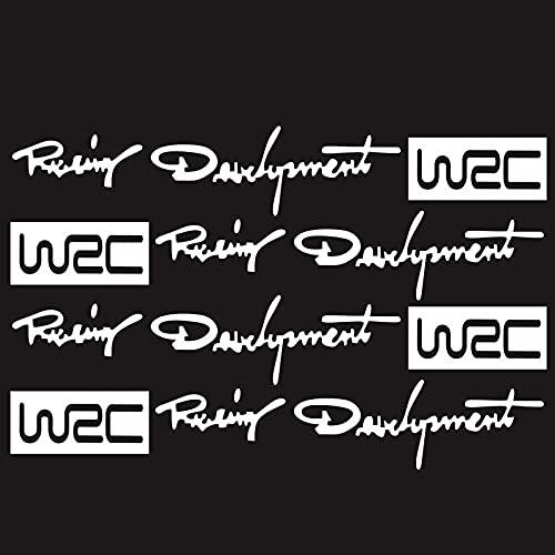 4PCS Coche Estilo Moda Creativo Auto Decorativo Decorativos Desarrollo Mundial Racing Desarrollo WRC Puerta de Coche Manija Vinilo Carrocería Cuerpo 12 cm * 2 cm (Color : 2, Size : 12cm*2cm)