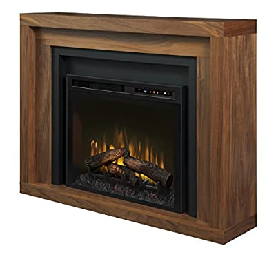 DIMPLEX Anthony Mantel Electric Fireplace with Glass Ember Bed Walnut/1500
