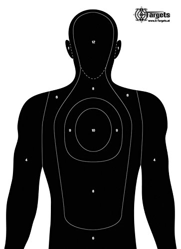 X-Targets Große Zielscheiben Human Silhouette / 50x70 cm/Papier 120g/m² (5 Stück)